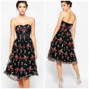ASOS Chi Chi London Floral Embroidered Dress NWT 2